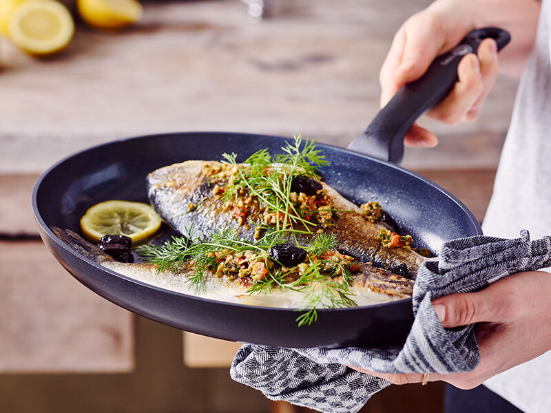 Fried Fish with Herb Butter
