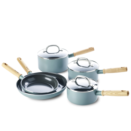 Mayflower Ceramic Non-Stick 8pc Set with lid
