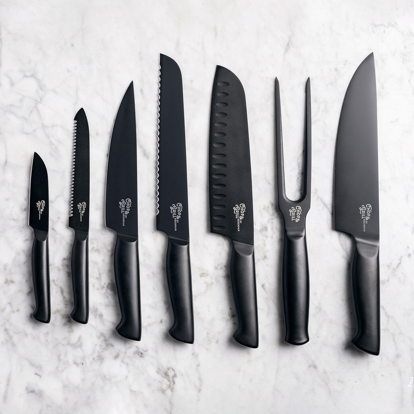 Chop & Grill Knife block with knives