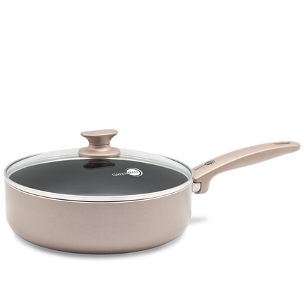 Cambridge Bronze Ceramic Non-Stick Sauté Pan with Lid