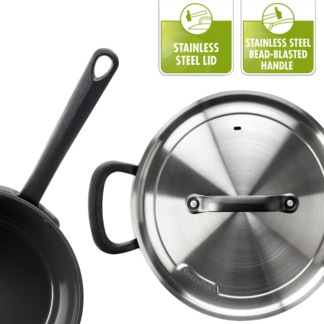 Craft Ceramic Non-Stick Sauté Pan with Lid