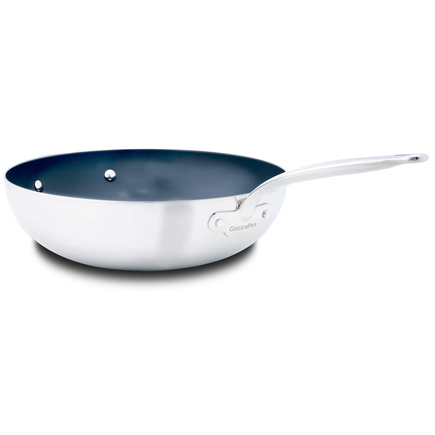 Barcelona Evershine Ceramic Non-Stick Open Wok with helper handle