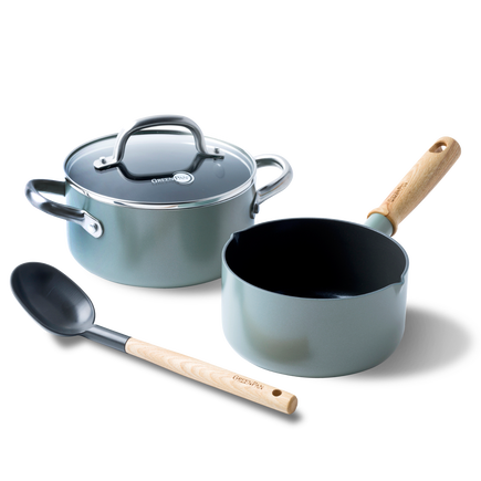 Mayflower Ceramic Non-Stick 4pc Set with lid