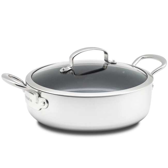 Barcelona Evershine Ceramic Non-Stick Shallow Casserole with lid