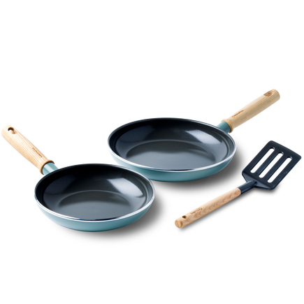 Mayflower Ceramic Non-Stick 3pc Frying Pan Set