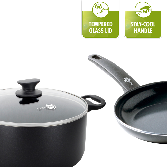 Cambridge Ceramic Non-Stick Milkpan with 2 Spouts