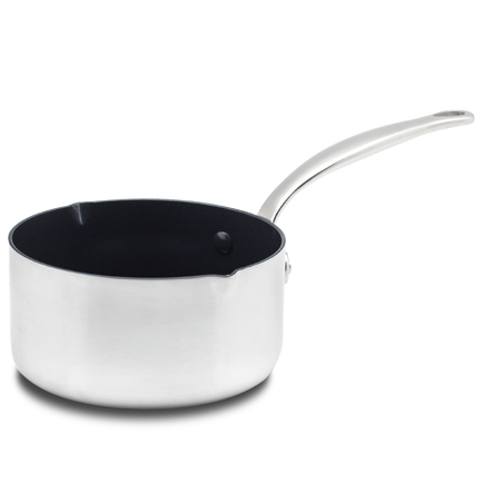 Barcelona Evershine Ceramic Non-Stick Milkpan with 2 spouts