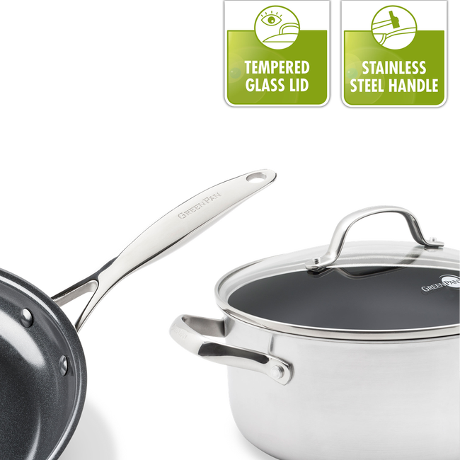 Elements Ceramic Non-Stick casserole with lid