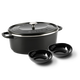 Featherweights Ceramic Non-Stick oval Dutch Oven with lid + 2 free serving bowls