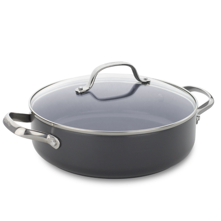 Venice Pro Ceramic Non-Stick Shallow casserole with lid