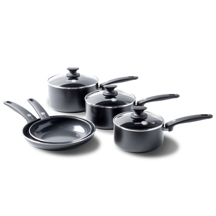 Cambridge Ceramic Non-Stick 8-piece Cookware Set