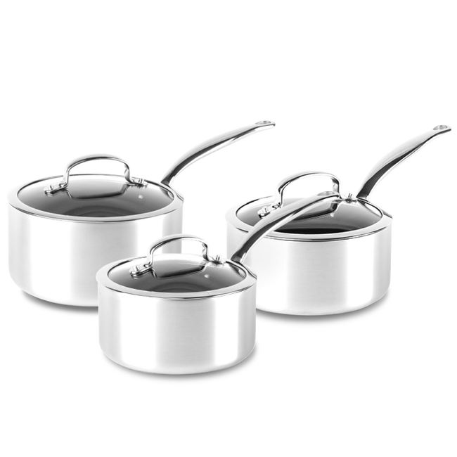 Barcelona Evershine Ceramic Non-Stick 6pc Saucepan Set