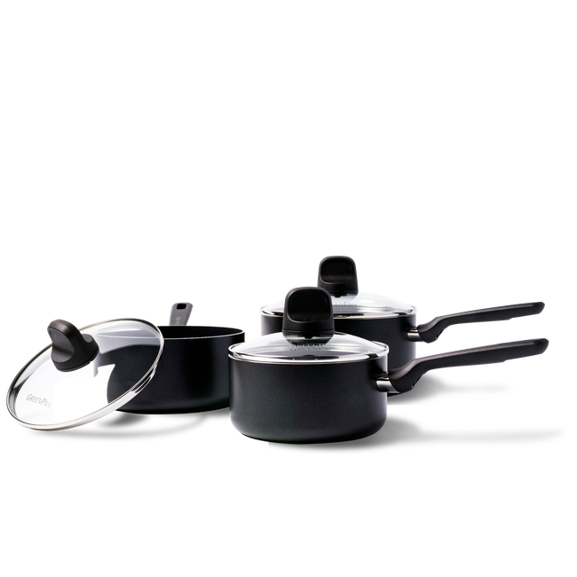 Memphis Ceramic Non-Stick 6pc Saucepan Set