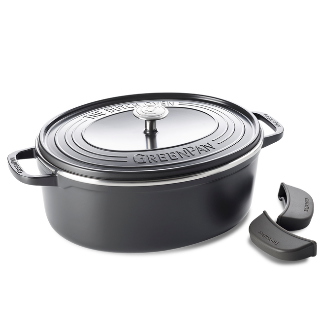 Featherweights Ceramic Non-Stick oval Dutch Oven with lid